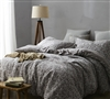 Atacama Desert Oversized King Duvet Cover in frosted peppercorn and light stone gray - cozy soft bedding duvet cover XL King size