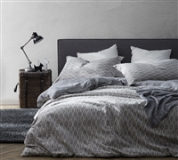 Mattina Gray King extra wide Duvet Cover for XL King size bedding