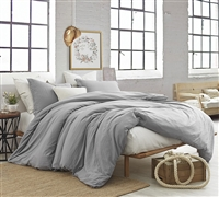 Oversized Twin XL, Queen, and King Bedding Alloy Gray Natural Loft Soft Extra Thick Comforter
