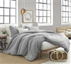 Extra Long Twin Oversized Comforter with Machine Washable Cover Alloy Gray Natural Loft Cozy Twin XL Soft Bedding