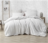 White King Oversize Comforter Super Soft Natural Loft Farmhouse White Extra Large King Bedding