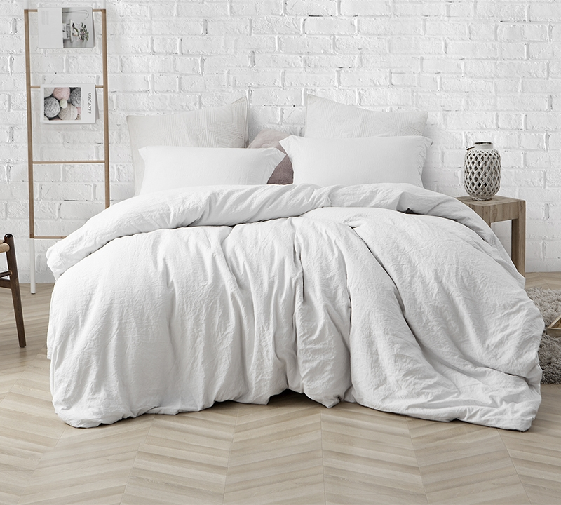 Ultra Thick Oversized King XL Bedding Stylish Farmhouse White