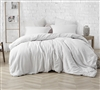 One of a Kind Extra Large Bedding Warm and Cozy Farmhouse White Natural Loft Oversized Comforter for Twin XL, Queen, and King Sized Beds