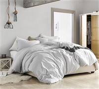 Oversized King Bedding with Extra Length and Extra Width Stylish Glacier Gray Comforter Super Soft Natural Loft
