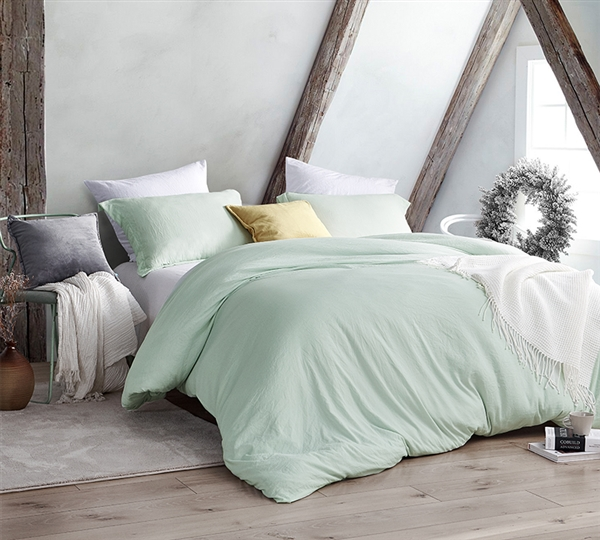 Hint of Mint Green Twin, Queen, or King Extra Large Bedding Set High Quality Natural Loft XL Twin, XL Queen, or XL King Comforter