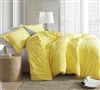 High Quality Oversized King Bedding Extra Thick Natural Loft Comforter with Super Soft Microfiber Cover Bright Limelight Yellow Style