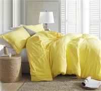 Beautiful Twin XL, Queen XL, and King XL Bedding Vibrant Limelight Yellow Extra Thick Natural Loft Comforter