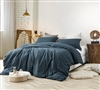 Most Comfortable Extra Long Twin Bedding Ultra Thick and Super Soft Nightfall Navy Natural Loft Cozy Oversized Twin XL Comforter