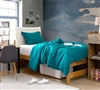 Best Comforter for Twin Extra Long Bed Ocean Depths Teal Natural Loft Warm and Cozy Soft Twin XL Bedding