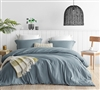 High Quality King XL Comforter Set Smoke Blue Natural Loft Ultra Cozy Oversized King Bedding