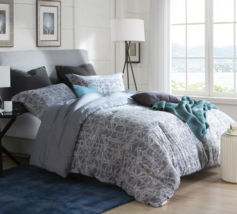 Gray Oversized Twin Xl Comforter Comfortable Extra Long Twin
