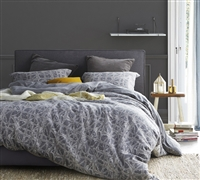 Cozy soft XL Twin Gray Duvet Cover - Oversized duvet cover Twin XL in gray