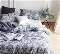Twin XL Comforter Steel Blue Oversized Twin XL Bedding Sa Rembo Unique Design