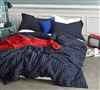 Classic Frame Modern Oversized King Duvet Cover Navy King XL Bedding