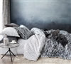 Oversized King Bedding Black and White Scribble XL King Duvet Cover
