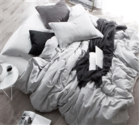 Oversized Twin XL Duvet Cover Gray Natural Loft Twin Bedding
