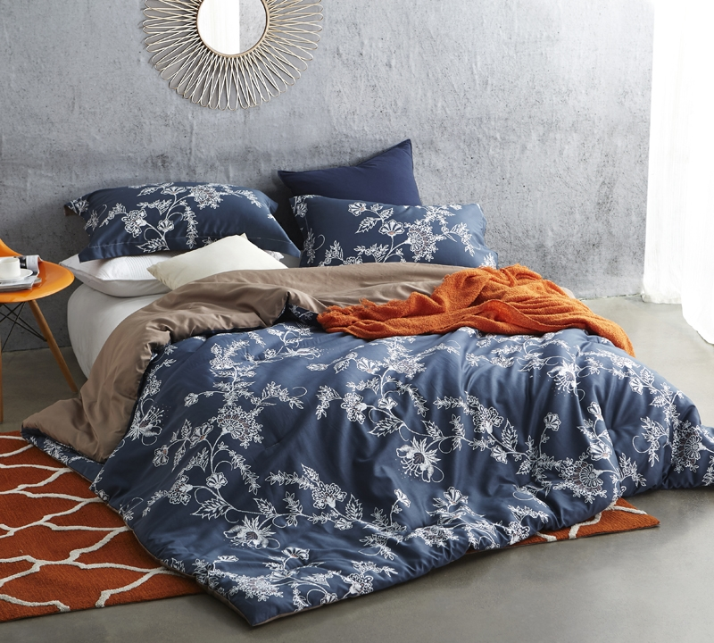 htm navy and p xl oversized comfortable kg extra vines comforter king long wide byb moxie design
