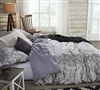 Ornate Queen Oversized Bedding Bliss Pretty Design Stylish Gray Queen XL Duvet Cover