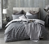 Stylish Faded Stripes Design Oversize Queen Bedding Decor Unique Faded Black Queen XL Duvet Cover