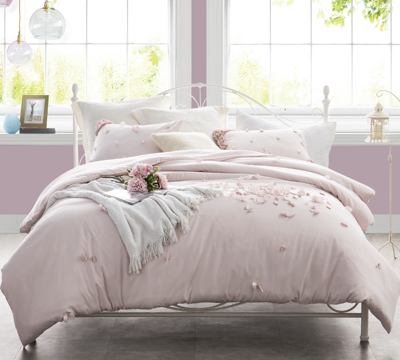 Soft Ice Pink Duvet Cover Xl King Size For Comfortable