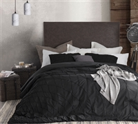 Twist Texture King Comforter oversized - Best oversized King bed comforters in Black available