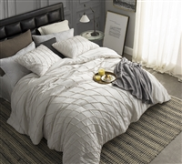 Off white oversize Twin comforter XL size - Cheap extra long Twin comforter set in cream color