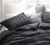 Cozy soft bedding pillow sham Queen XL available - Black pillow sham for soft bedding set in Queen