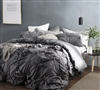 Knots Extended Twin size Duvet Cover - Dark Gray sized Twin XL soft duvet cover