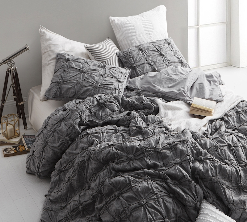 Gray Twin Sized Comforter Oversize Soft Comforter Sets