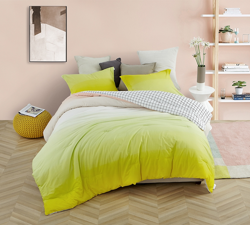 Vibrant King Oversize Bedding Set With King Size Shams Ombre