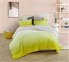 Beautiful Yellow Twin Extra Long Comforter Stylish Ombre Sunshine Soft Oversized Twin XL Bedding Set