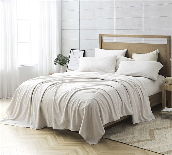 Taupe Sheets for Any Sized Bed High Quality Bom Dia Made in Portugal Washed Sateen Soft 300TC Sheet Set
