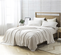 Luxuriously Soft Full Extra Large Bedding Sheets Bom Dia 300TC Washed Cotton Sateen Full XL Sheets Made in Portugal