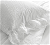 Luxurious Portugal Made Bedding 2-Pack of Violeta Folho Standard or King Size Pillowcases Made with Stone Washed Sateen