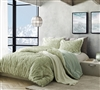 Plush Faux Fur Oversized Twin Comforter Coma Inducer Arctic Moss Tundra Green Luxurious XL Twin Bedding