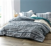 Designer XL Twin Bedding Set with Matching Zanzibar Teal Extra Large Twin Comforter and Standard Size Pillow Sham