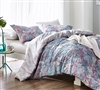 Extra Large King Bedding Essentials Carnival Rio King Oversize Microfiber King Duvet Cover with Multi-Color Swirled Pattern