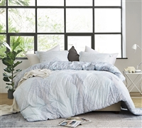 White Extra Long Twin Comforter with Colorful Pattern Designer Hojas Flor Super Soft Microfiber Twin XL Oversize Bedding