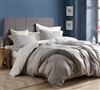 Stylish Gray Queen XL Duvet Cover with Designer Gingham Gray Pattern Made with 100% Super Soft Cotton