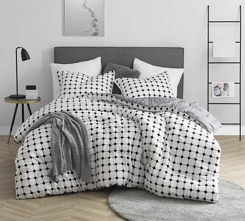 Black and White Extra Long Twin, Queen, or King Oversize Bedding