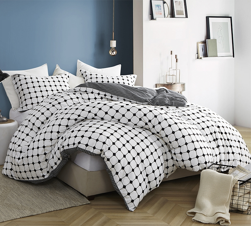 Moda Black And White Oversized Queen Duvet Cover 100