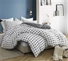 Super Soft 100% Cotton XL Twin Duvet Cover Designer Moda Black and White Oversized Twin Bedding Essential
