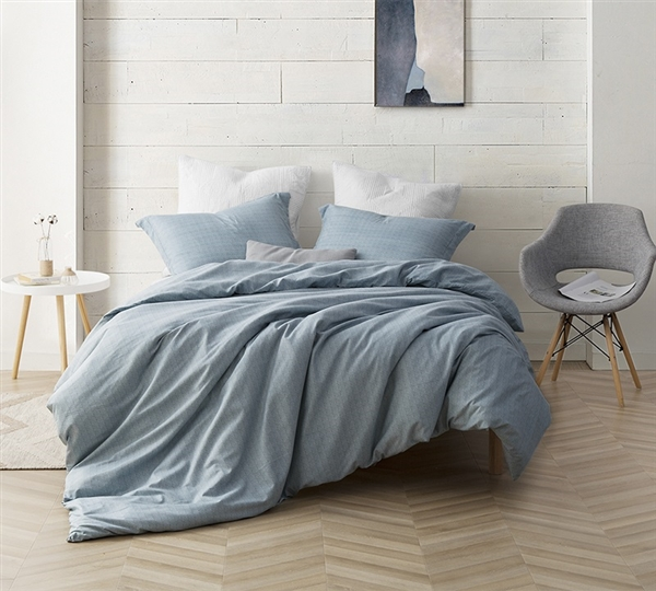 Oversized Queen or Oversized King Borgo Duvet Cover Stylish Extra Large Queen or King Bedding