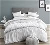 White King Oversize Duvet Cover with Textured Black Design Unique Santorini Microfiber King Bedding