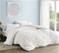 White King Oversize Comforter Farmhouse Morning Super Soft Textured Microfiber Extra Large King Bedding