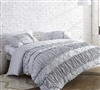 Easy to Match Queen Bedding Decor Ruffle Pleats Super Soft Glacier Gray XL Queen Bedding