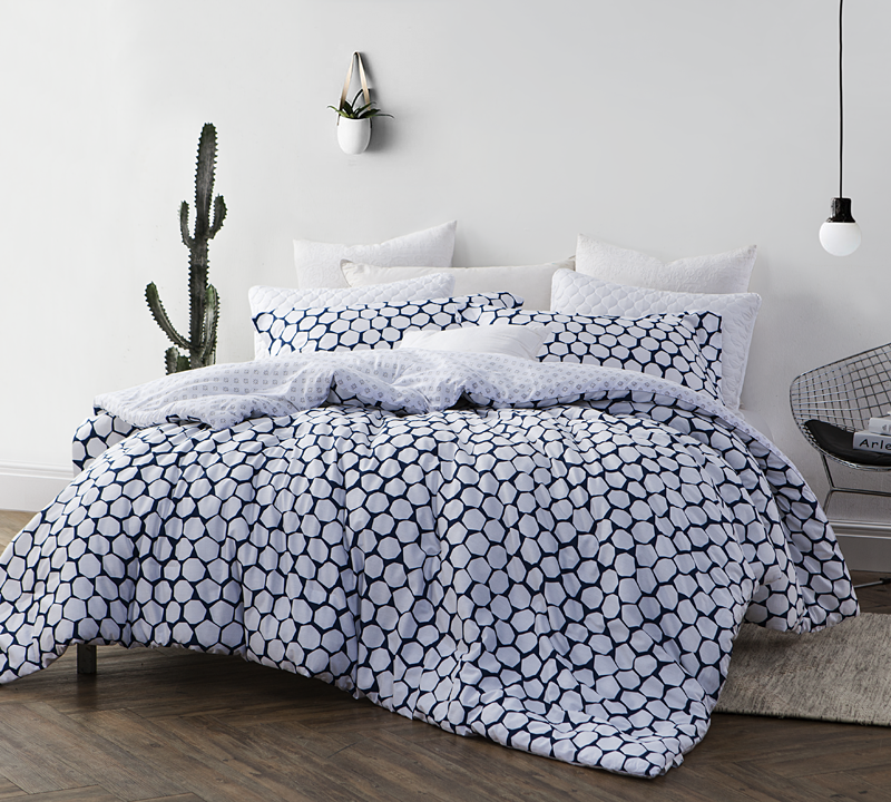 White And Navy Comforter Sets Extra Long Comforters Sized Twin Xl