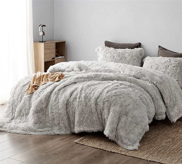 Extra Large Twin, Queen, or King Cloud Gray Bedding Socially Distant Coma Inducer Oversized Twin, Queen, or King Comforter Set