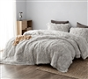 Oversized Twin Comforter Made with Long Plush Bedding Material Socially Distant Coma Inducer Cloud Gray