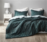 Digital Print Oversized King Bedding Decor Midnight Green Dripping Paint Designer King Comforter